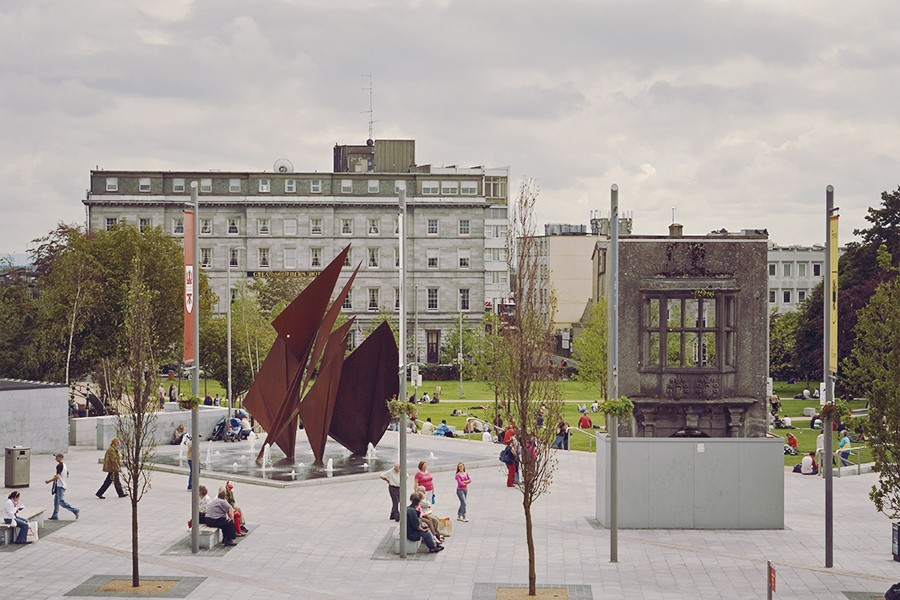 Galway city square