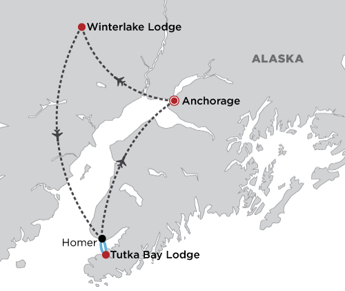 Alaska Unique Lodge Experience map