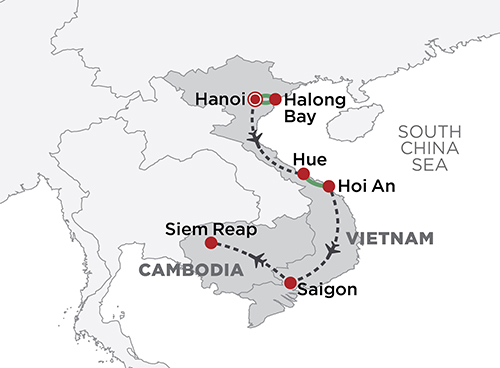 All Over Vietnam & Beyond map