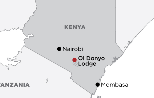 Amboseli Luxury Fly-in at Ol Donyo  map