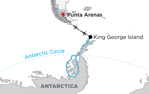 Antarctic Express Crossing the Circle map