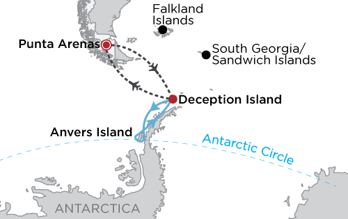 Antarctic Express: Fly the Drake map