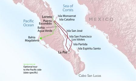 Baja Bounty Cruise map