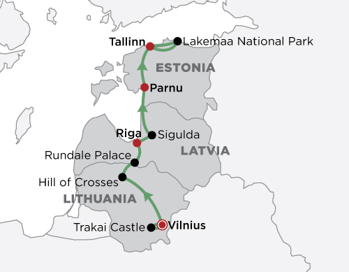 Baltic Highlights map