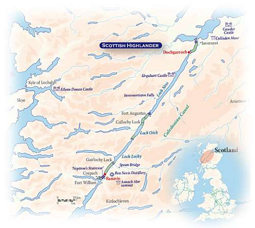 Cruise the Heart of the Scottish Highlands map