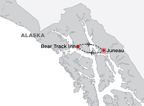 Bear Track Inn - Glacier Bay map