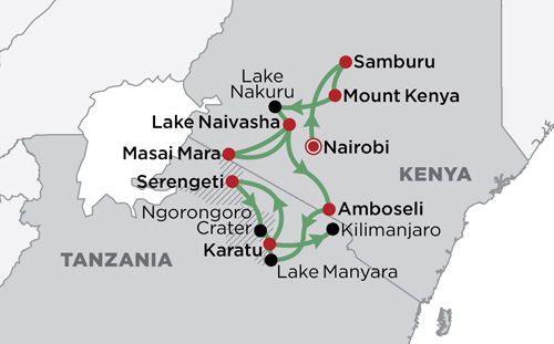 Best of East Africa 2018 map