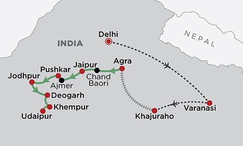 Best of North India map