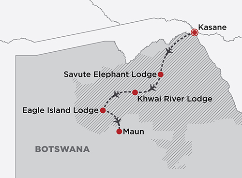 Botswana By Belmond map