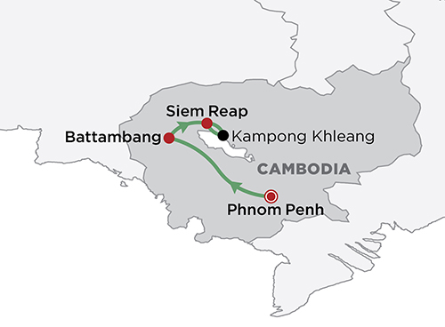 Cambodia in Style map