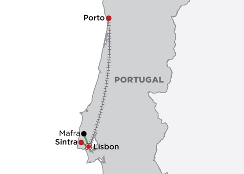 Charming Portugal map