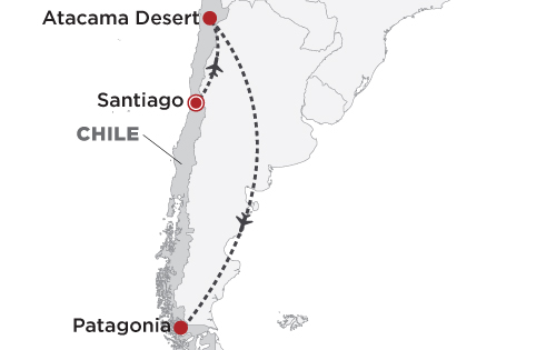 Chile in Luxury map
