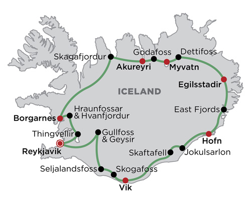 Classic Iceland map