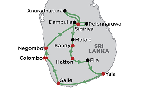 Complete Sri Lanka map