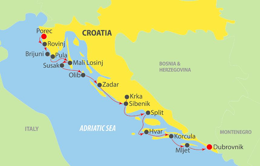 Adriatic Cruise map