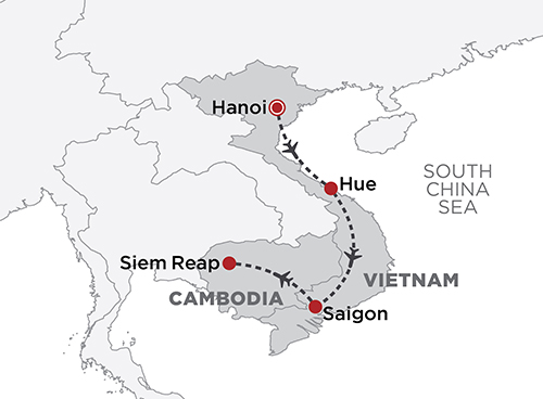 Culinary Vietnam & Cambodia map