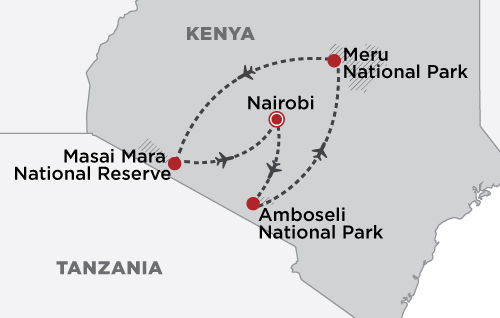 Elewana Sky Safari Kenya map