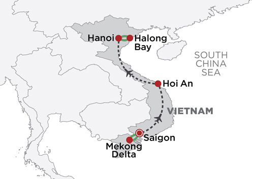 Essential Vietnam map