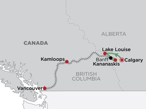 First Passage to the West Kananaskis Self Drive map