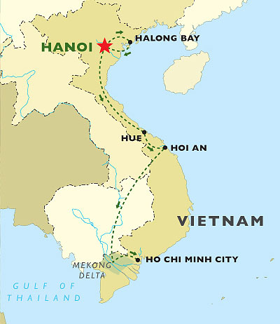 Culinary Delights of Vietnam map