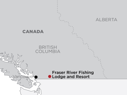 Fraser River Fishing Lodge and Resort map