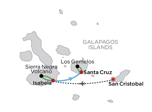 Galapagos Island Hopping map