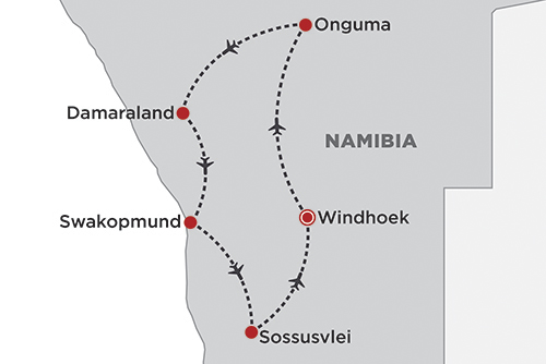 Gems of Namibia map
