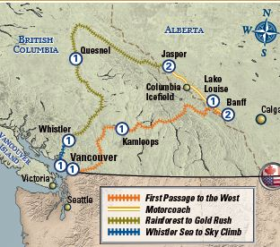 Golden Circle via Whistler map