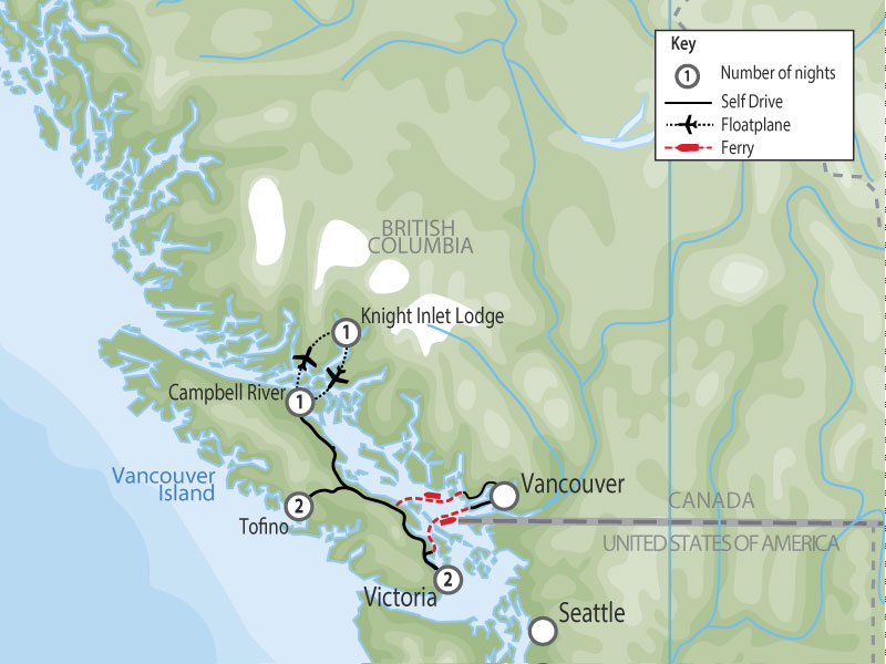 Grizzlies, Orcas & Black Bears map