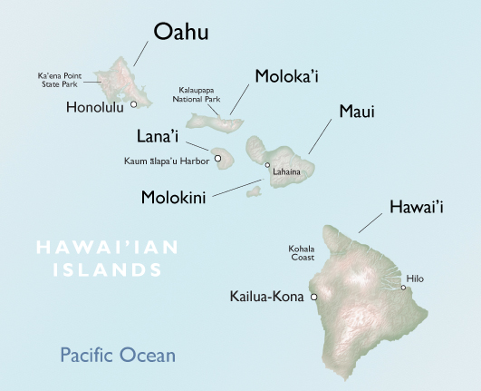 Hawaiian Seascapes map