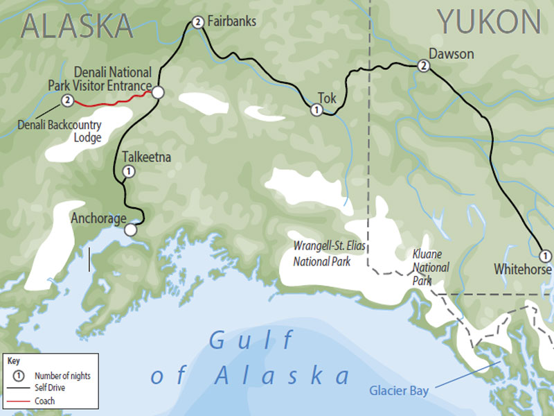 Historic Alaska & Yukon Milepost map