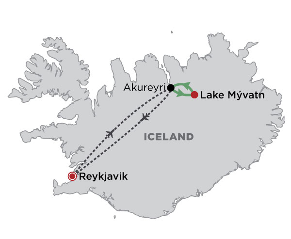 Iceland's Northern Lights map