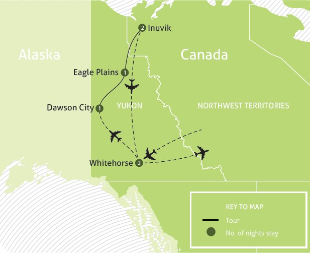 Inuit Lands and the Road to the Arctic  map