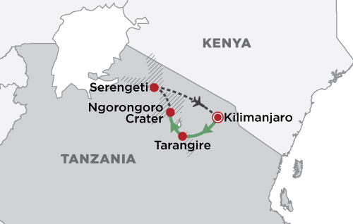 Jewels of Tanzania map