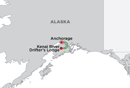 Kenai River Drifter's Lodge map