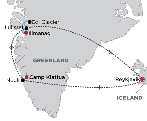 Luxury Greenland in Style map
