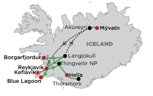 Luxury Iceland - Winter in Style map