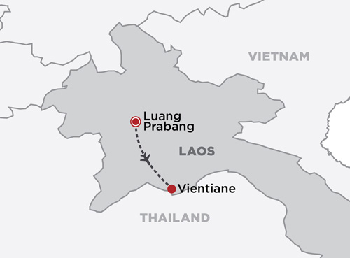 Luxury Laos in Style map