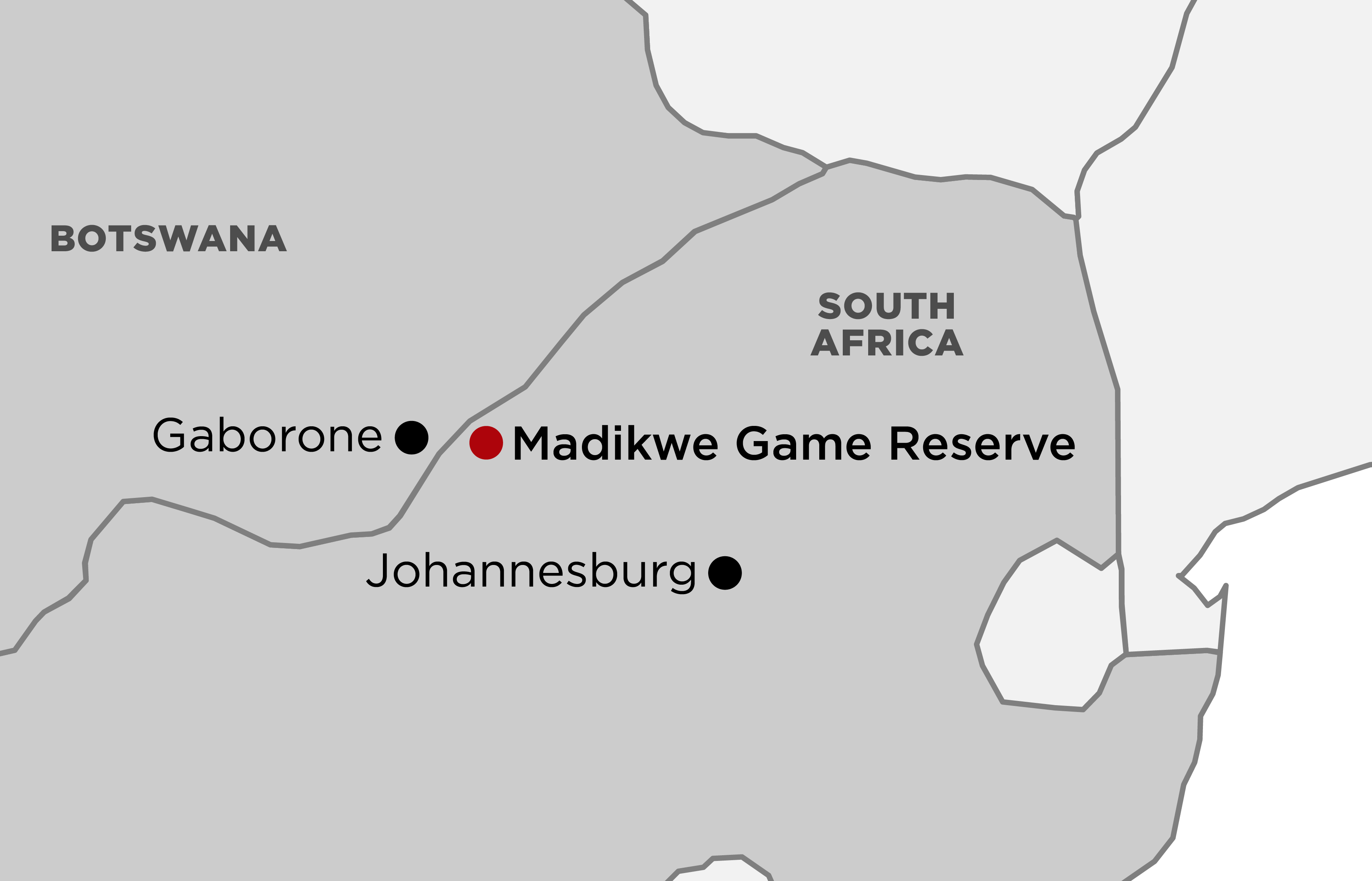 Madikwe Game Reserve map