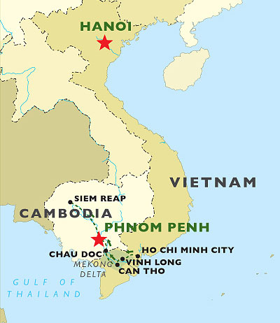 Meandering Mekong map