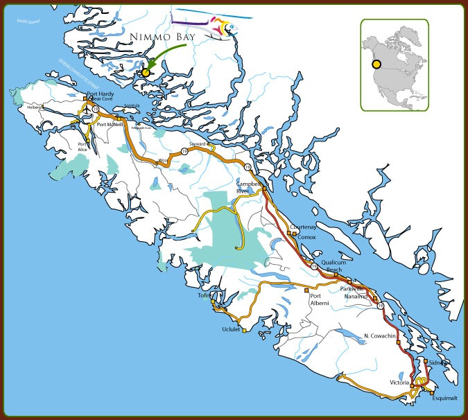 Wildlife Retreat at Nimmo Bay map