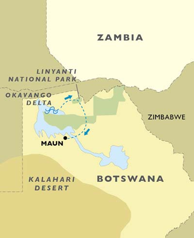 Okavango & The Linyanti map