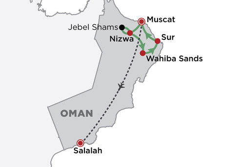 Omani Explorer map