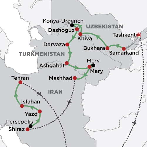Persia & The Silk Road map