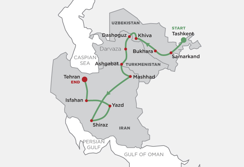 Persia and the Silk Road map