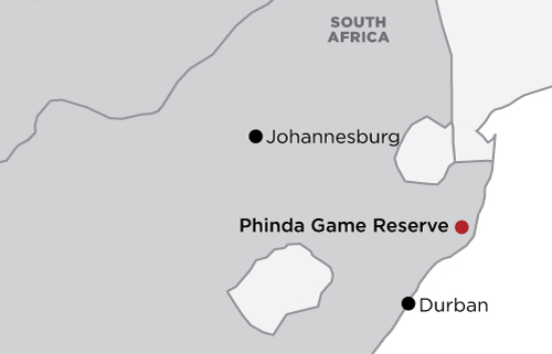 Phinda Private Game Reserve map