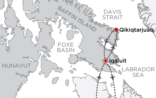 Polar Bears and Glaciers of Baffin Island map