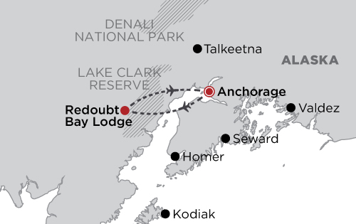 Redoubt Bay Lodge Bear Viewing map