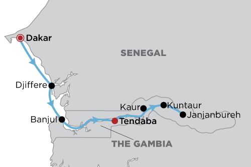 Senegal & Gambia - The Rivers of West Africa map