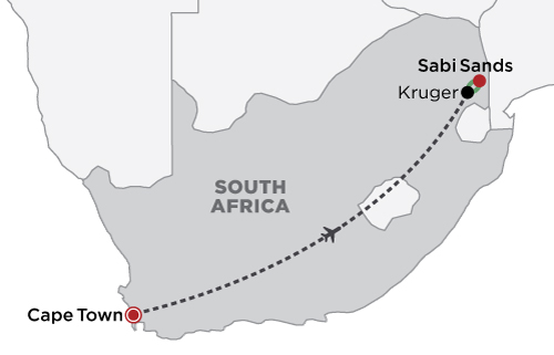 South Africa Spectacular map